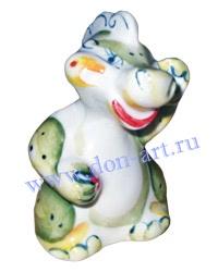 Новогодний сувенир подсвечник в виде дракона - Дракон Федя